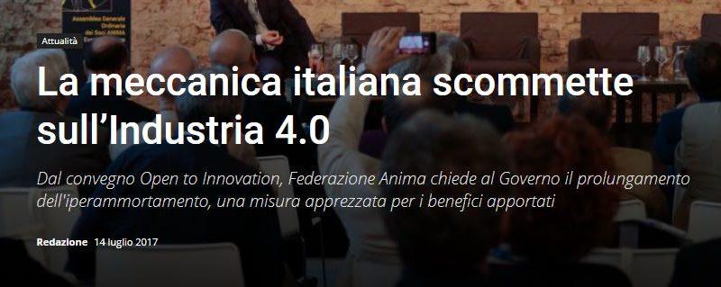 La meccanica italiana scommette sull'Industria 4.0
