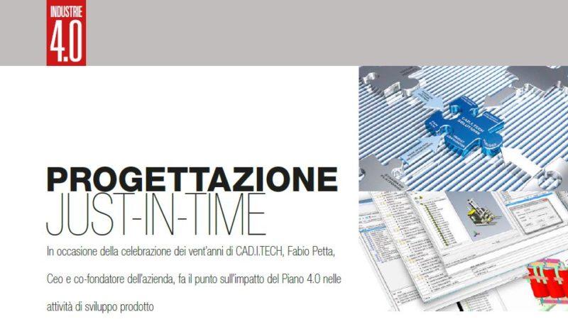 """Intervista di Industrie 4.0 a Fabio Petta, CEO e co-fondatore di Caditech, in occasione dell'evento """"Celebrating 20 Years""""  1998-2018"""